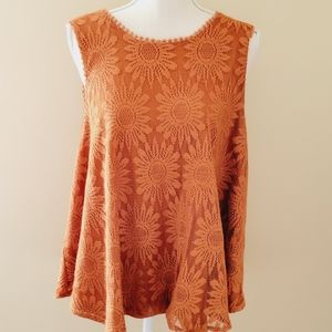 Forever 21 rust lace blouse size 3x